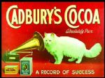 Vintage Cadburys Cocoa Cat Metal Steel Sign Plaque